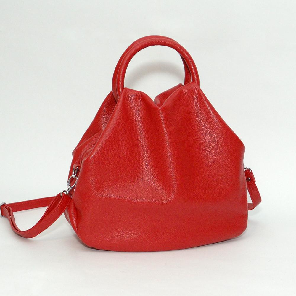 32abf9d3729c Купить Кожаная сумка модель 31 красный флотар оптом - Женские ...