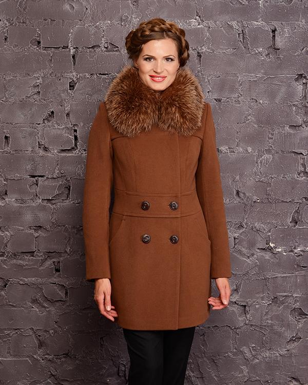 Зимнее короткое пальто фото