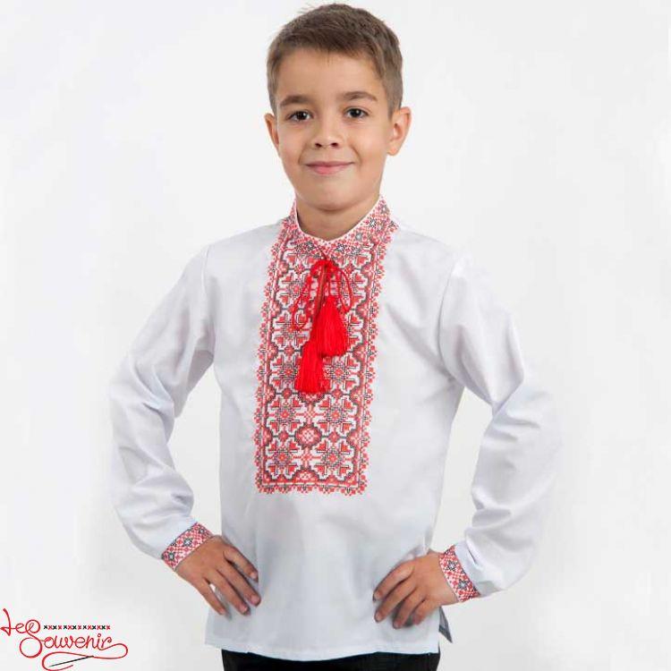 Купити Вишиванка Орнамент червоний HVS-1028 оптом - Вишитий одяг від ... 064de2f5fd131