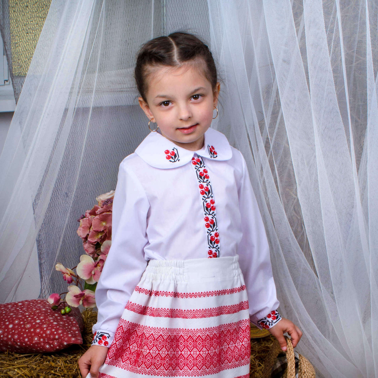 Купити Вишиванка Калинонька DVS-1021 оптом - Вишитий одяг від ... 9b865ed24a680