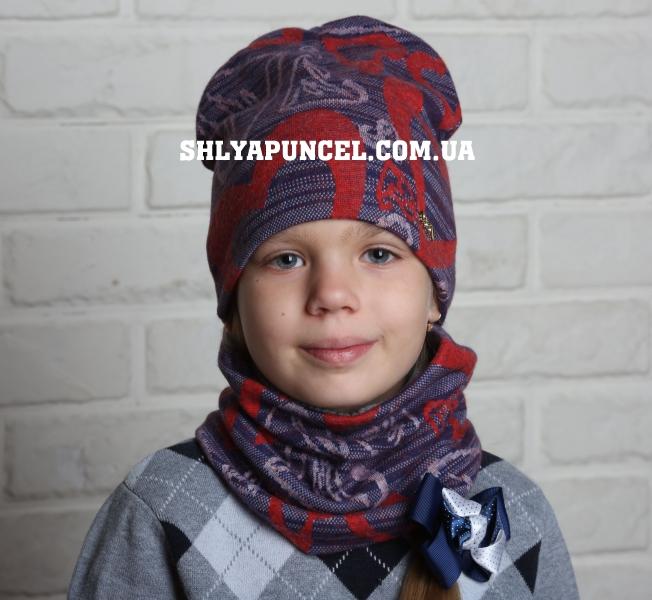 Купить оптом комплект шапка и хомут для девушки b676579901f0a
