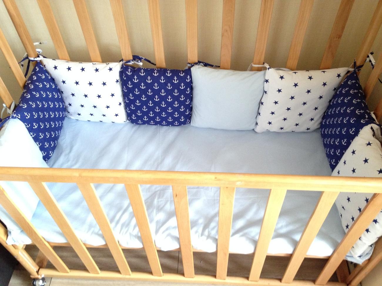 Как сшить бортики в детскую кроватку для новорожденных своими 69